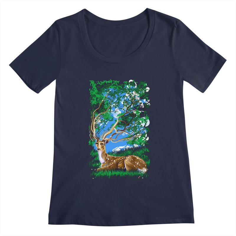 Nature Looks Back At You Women's Scoopneck by Todd Powelson's Artist Shop