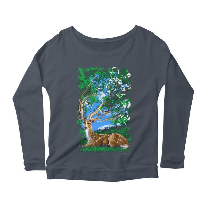 Nature Looks Back At You Women's Longsleeve Scoopneck  by Todd Powelson's Artist Shop