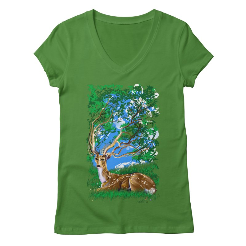 Nature Looks Back At You Women's V-Neck by Todd Powelson's Artist Shop