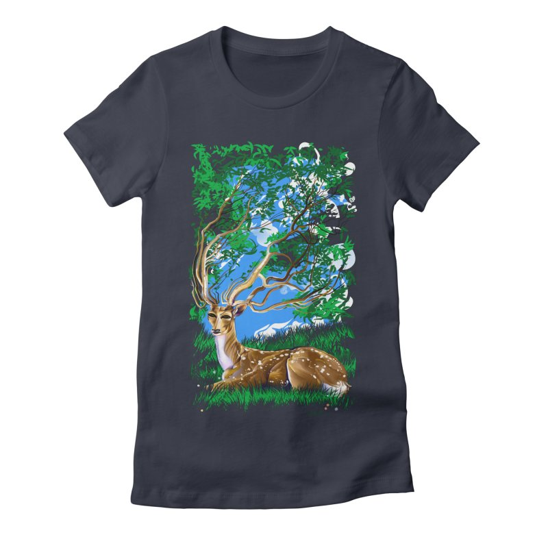 Nature Looks Back At You Women's Fitted T-Shirt by Todd Powelson's Artist Shop