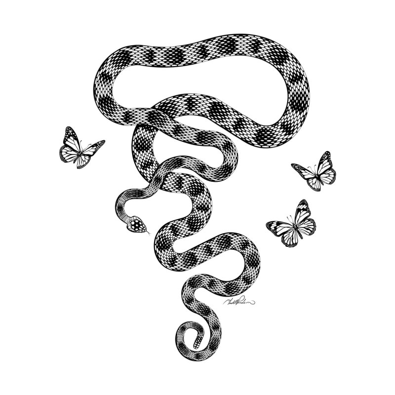 Rattlesnake & Butterflies by Todd Powelson's Artist Shop