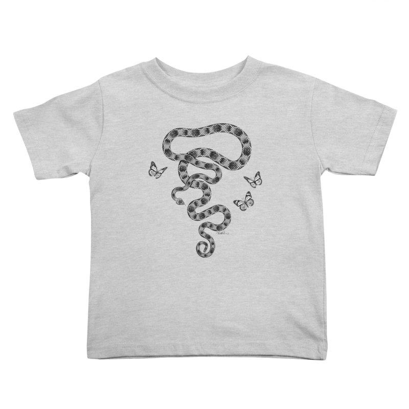 Rattlesnake & Butterflies Kids Toddler T-Shirt by Todd Powelson's Artist Shop
