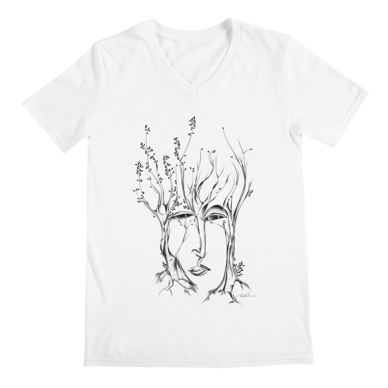 Winter Trees Men's V-Neck by Todd Powelson's Artist Shop
