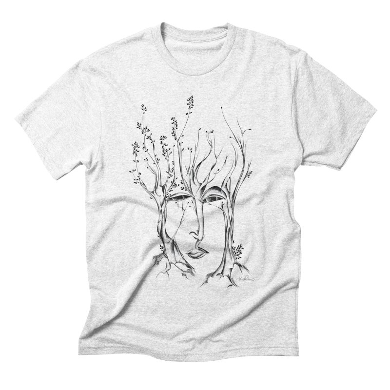 Winter Trees Men's Triblend T-shirt by Todd Powelson's Artist Shop