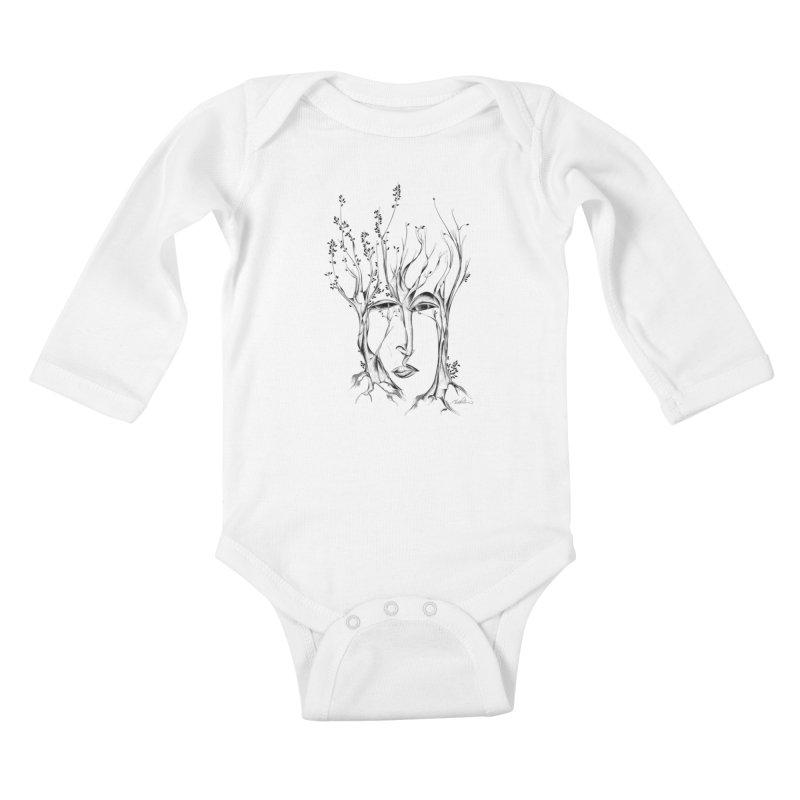 Winter Trees Kids Baby Longsleeve Bodysuit by Todd Powelson's Artist Shop