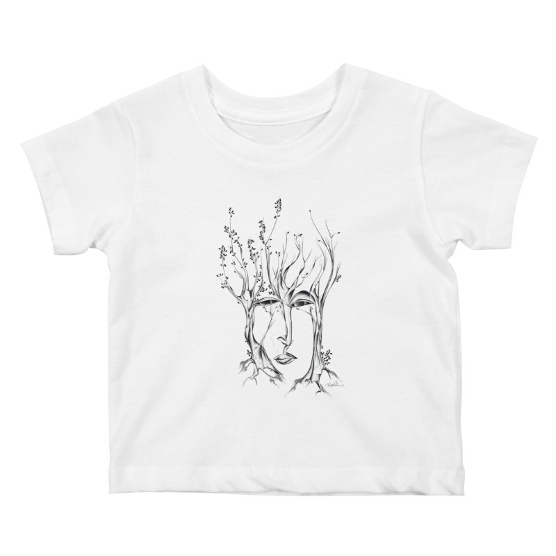 Winter Trees Kids Baby T-Shirt by Todd Powelson's Artist Shop