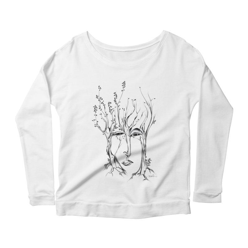 Winter Trees Women's Longsleeve Scoopneck  by Todd Powelson's Artist Shop