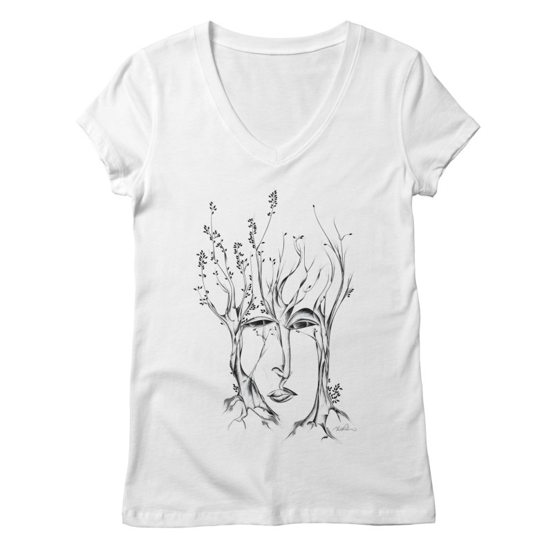 Winter Trees Women's V-Neck by Todd Powelson's Artist Shop