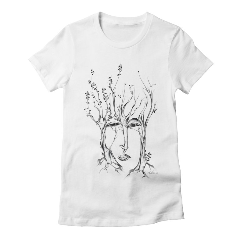 Winter Trees Women's Fitted T-Shirt by Todd Powelson's Artist Shop