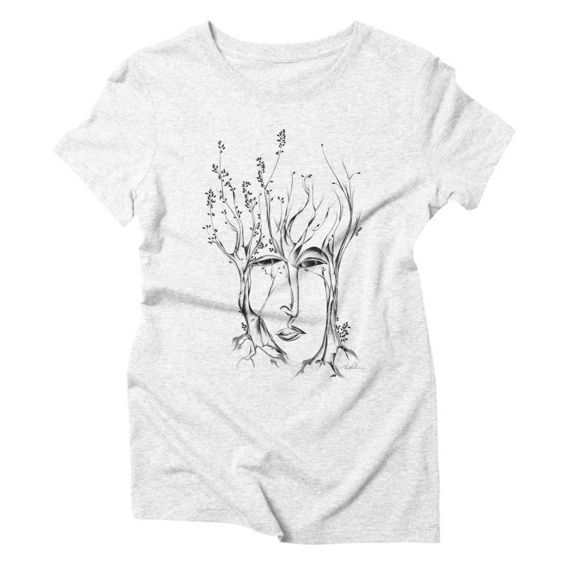 Winter Trees Women's Triblend T-shirt by Todd Powelson's Artist Shop