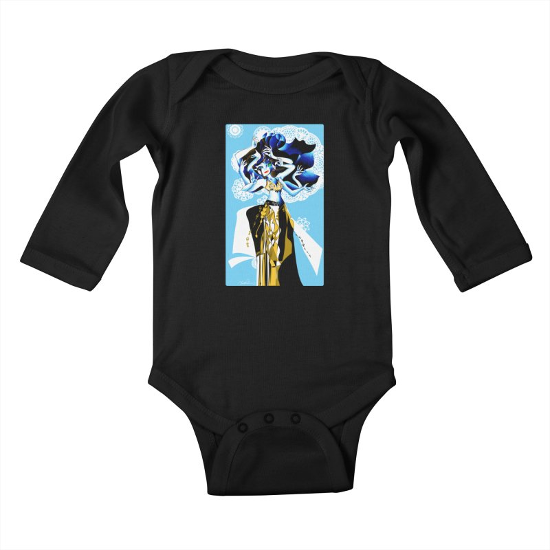 Dancer Kids Baby Longsleeve Bodysuit by Todd Powelson's Artist Shop