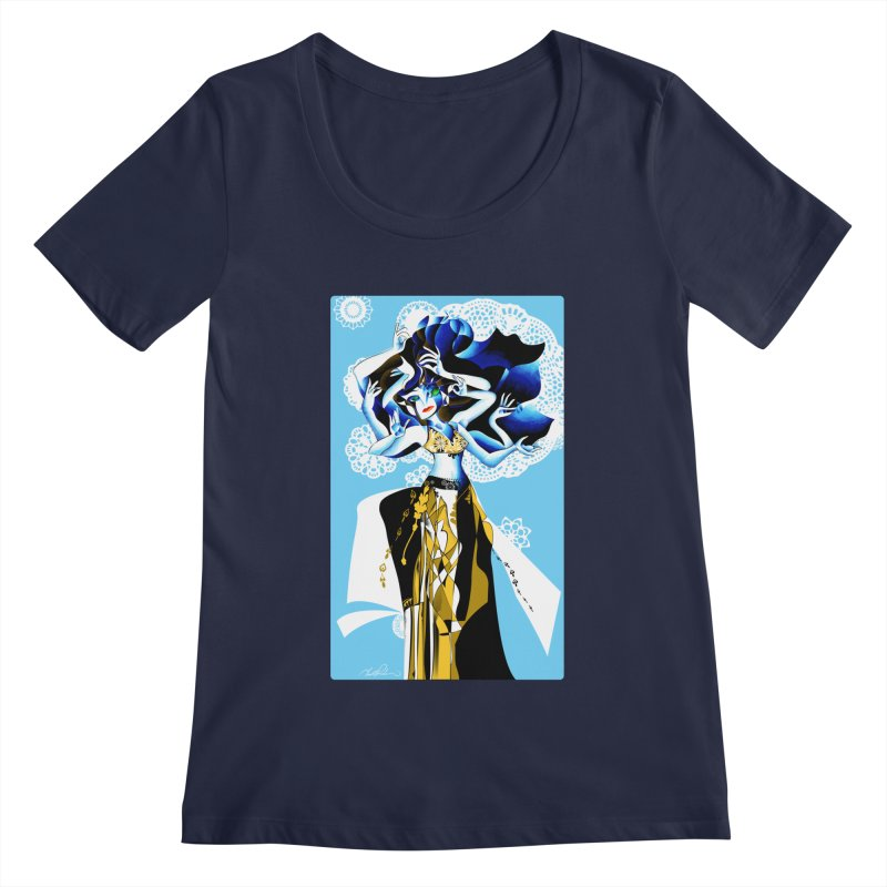 Dancer Women's Scoopneck by Todd Powelson's Artist Shop