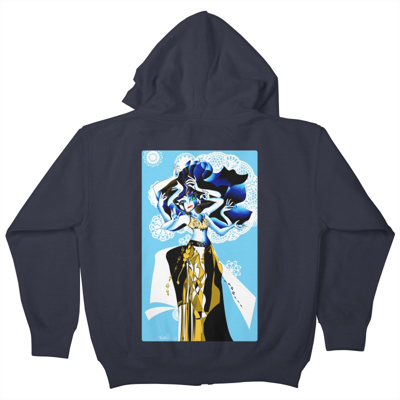 Dancer Kids Zip-Up Hoody by Todd Powelson's Artist Shop