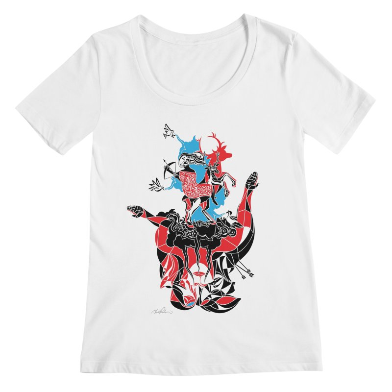 About Love Women's Scoopneck by Todd Powelson's Artist Shop