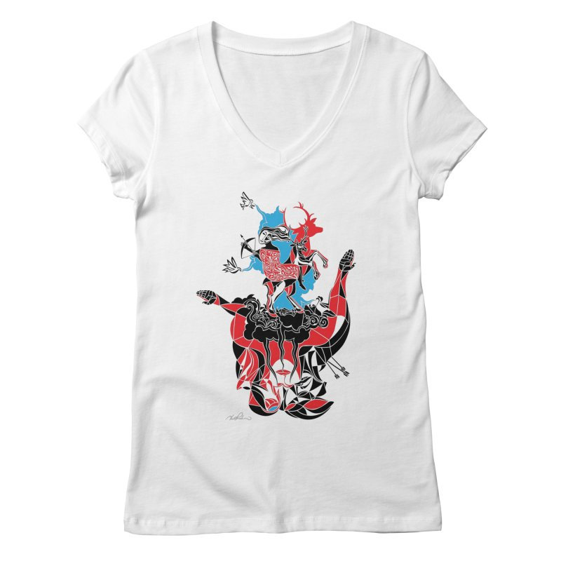 About Love Women's V-Neck by Todd Powelson's Artist Shop