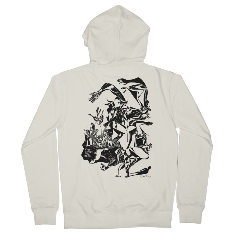 Every Surface Will Break Men's Zip-Up Hoody by Todd Powelson's Artist Shop