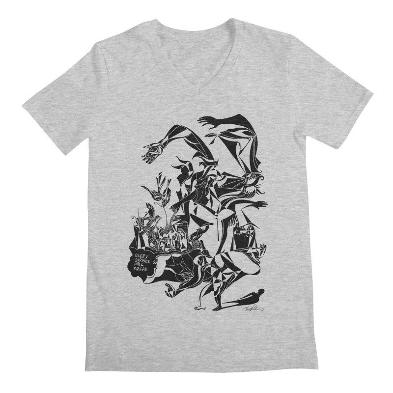 Every Surface Will Break Men's V-Neck by Todd Powelson's Artist Shop