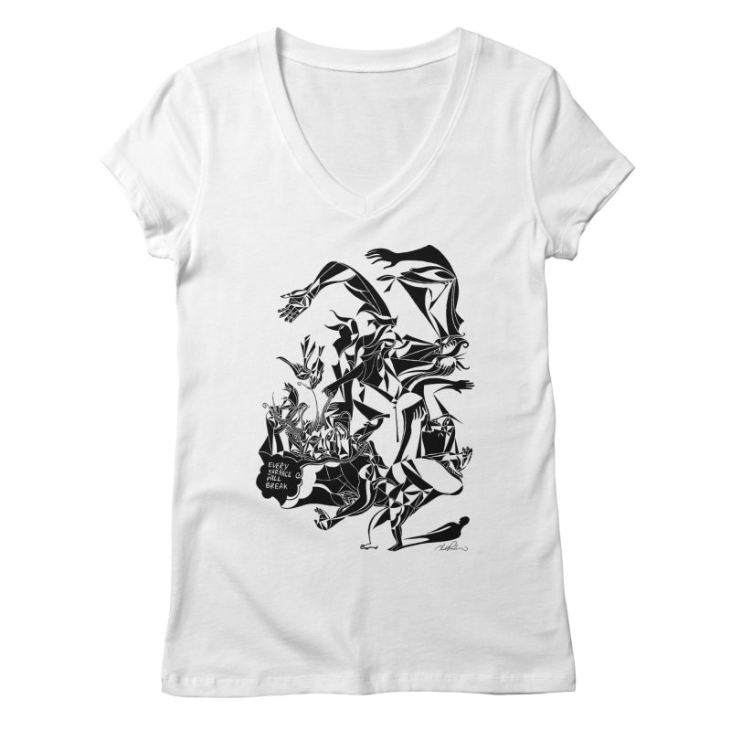 Every Surface Will Break Women's V-Neck by Todd Powelson's Artist Shop