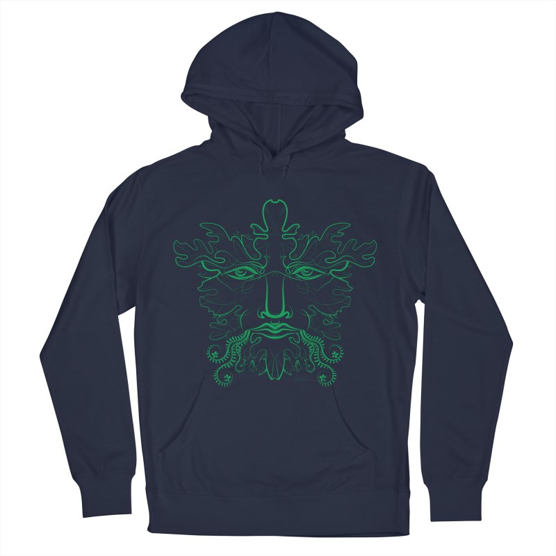 Green Man Men's Pullover Hoody by Todd Powelson's Artist Shop