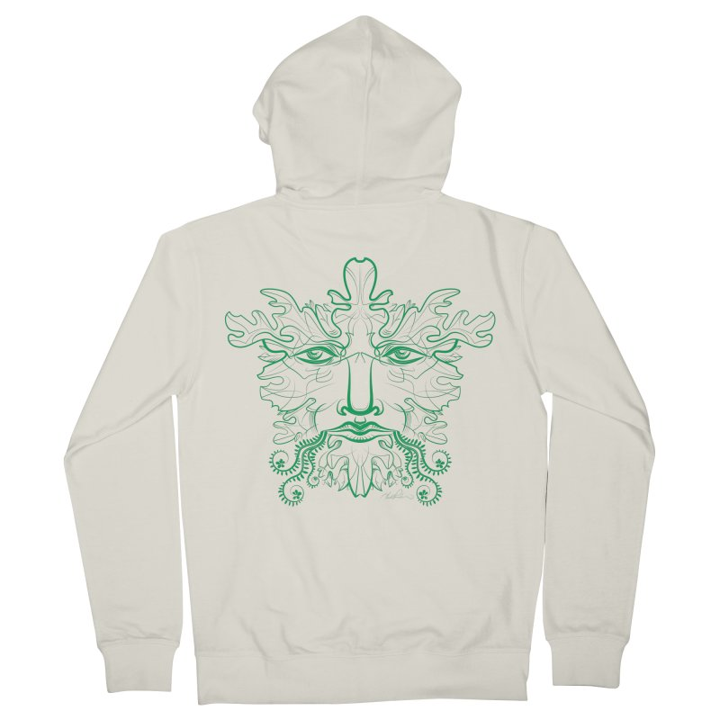 Green Man Men's Zip-Up Hoody by Todd Powelson's Artist Shop