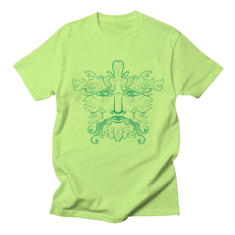 Green Man Men's T-shirt by Todd Powelson's Artist Shop