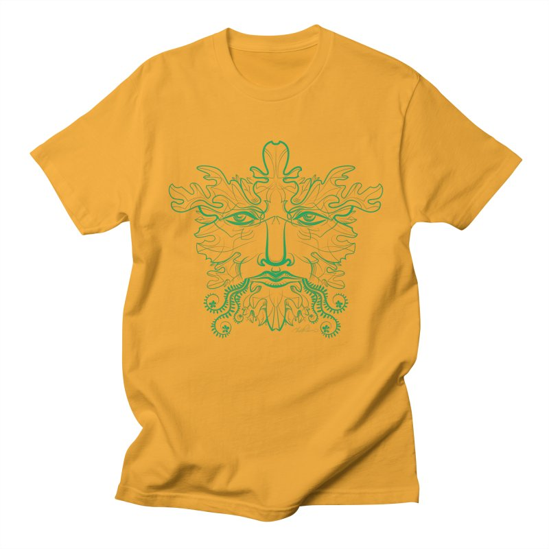 Green Man Men's T-Shirt by Todd Powelson's Artist Shop