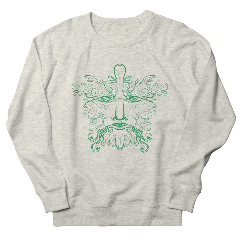 Green Man Women's Sweatshirt by Todd Powelson's Artist Shop