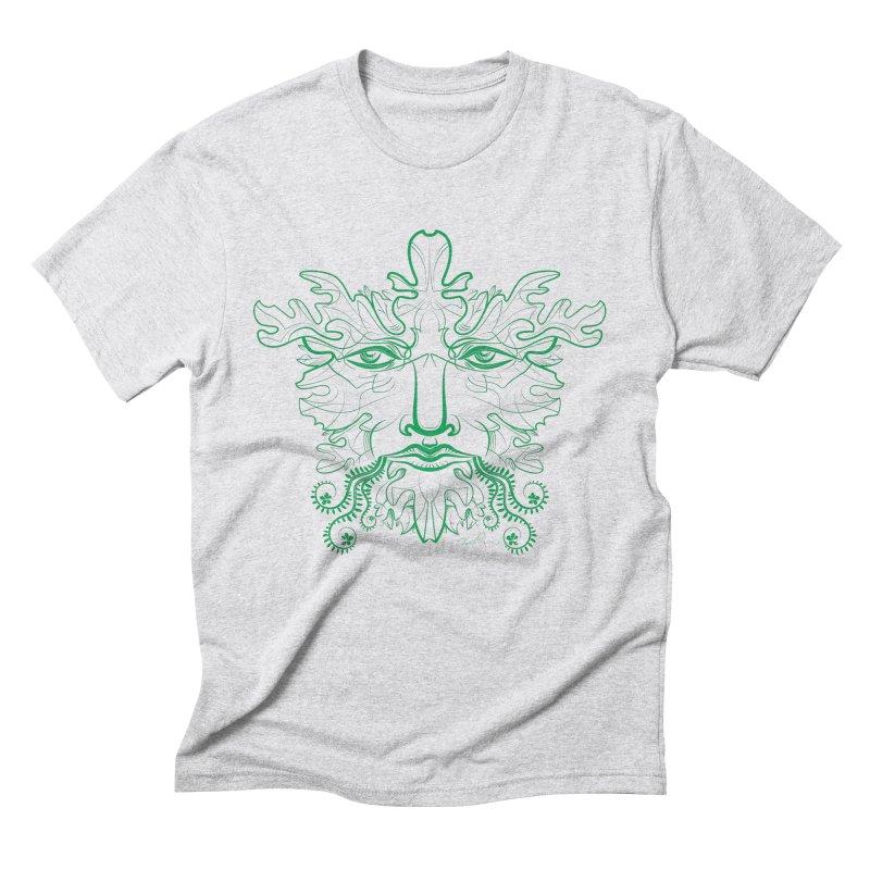Green Man Men's Triblend T-Shirt by Todd Powelson's Artist Shop