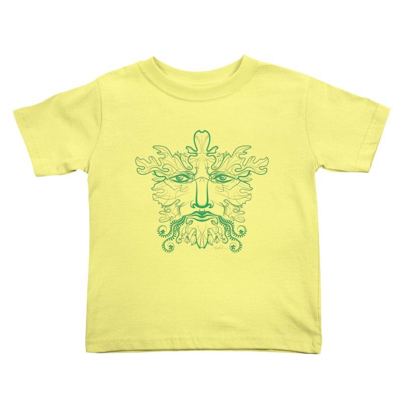 Green Man Kids Toddler T-Shirt by Todd Powelson's Artist Shop
