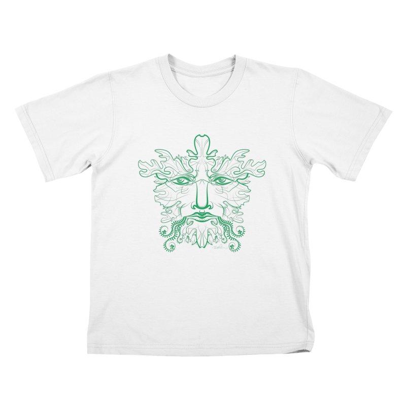 Green Man Kids T-Shirt by Todd Powelson's Artist Shop