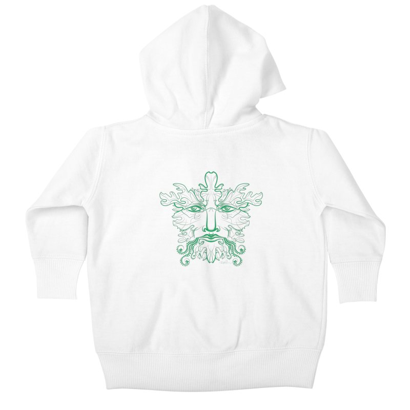 Green Man Kids Baby Zip-Up Hoody by Todd Powelson's Artist Shop