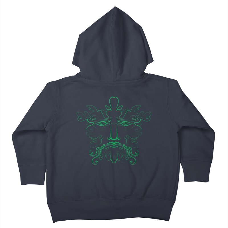 Green Man Kids Toddler Zip-Up Hoody by Todd Powelson's Artist Shop