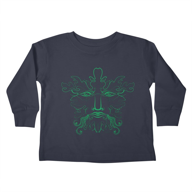Green Man Kids Toddler Longsleeve T-Shirt by Todd Powelson's Artist Shop