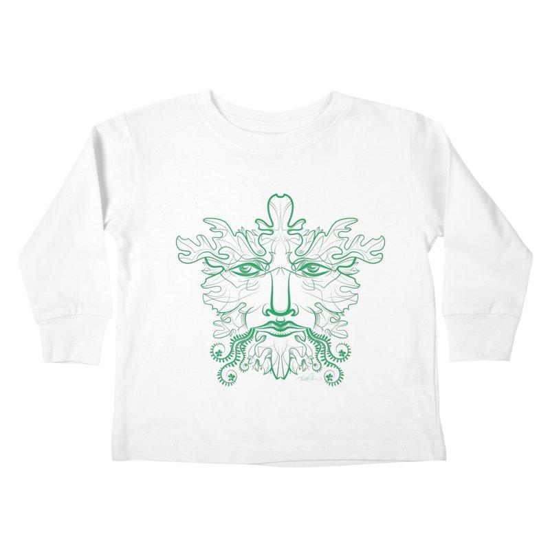 Green Man Kids Toddler Longsleeve T-Shirt by Todd Powelson's Artist Shop