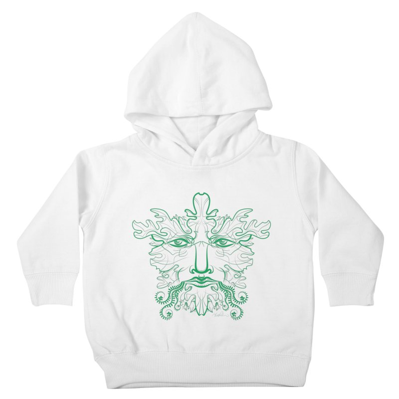 Green Man Kids Toddler Pullover Hoody by Todd Powelson's Artist Shop