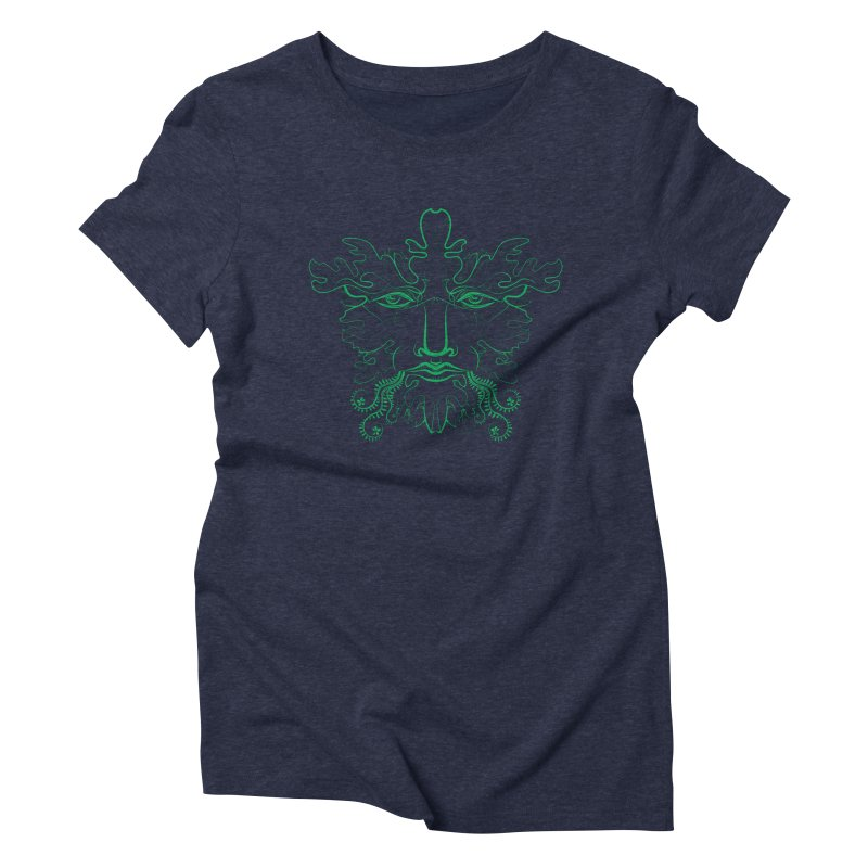 Green Man Women's Triblend T-shirt by Todd Powelson's Artist Shop