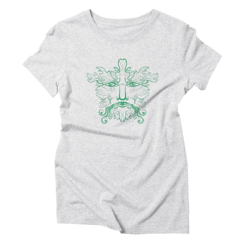 Green Man Women's Triblend T-shirt by Todd Powelson's Artist Shop