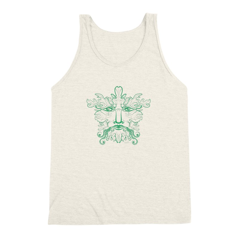 Green Man Men's Triblend Tank by Todd Powelson's Artist Shop