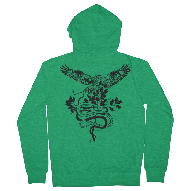 Western Caduceus Women's Zip-Up Hoody by Todd Powelson's Artist Shop