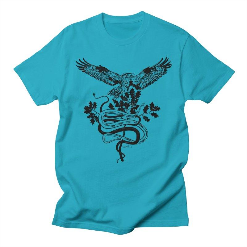 Western Caduceus Men's T-shirt by Todd Powelson's Artist Shop