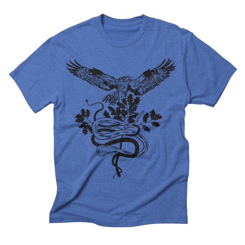 Western Caduceus Men's Triblend T-shirt by Todd Powelson's Artist Shop