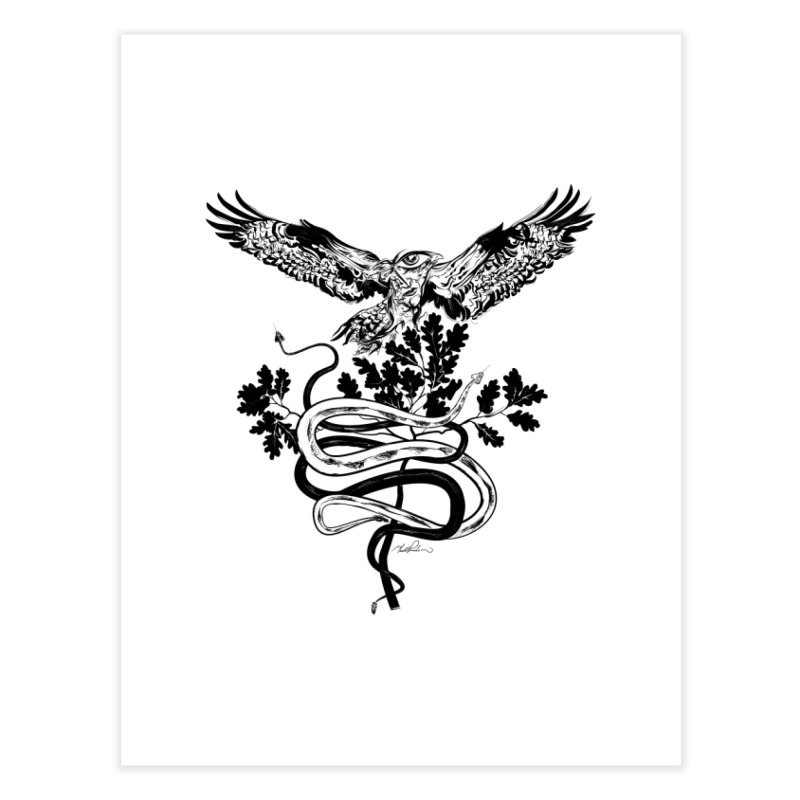 Western Caduceus Home Fine Art Print by Todd Powelson's Artist Shop