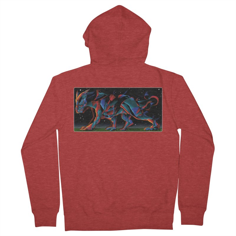 The Dragon Walks The Earth Men's Zip-Up Hoody by Todd Powelson's Artist Shop