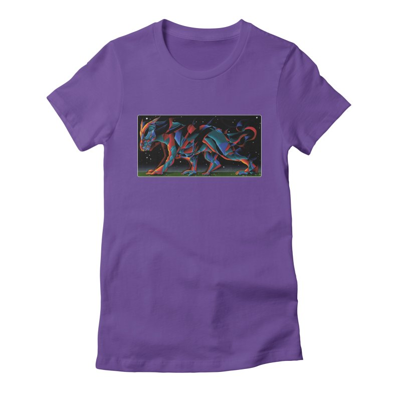 The Dragon Walks The Earth Women's Fitted T-Shirt by Todd Powelson's Artist Shop