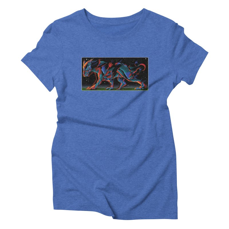 The Dragon Walks The Earth Women's Triblend T-Shirt by Todd Powelson's Artist Shop