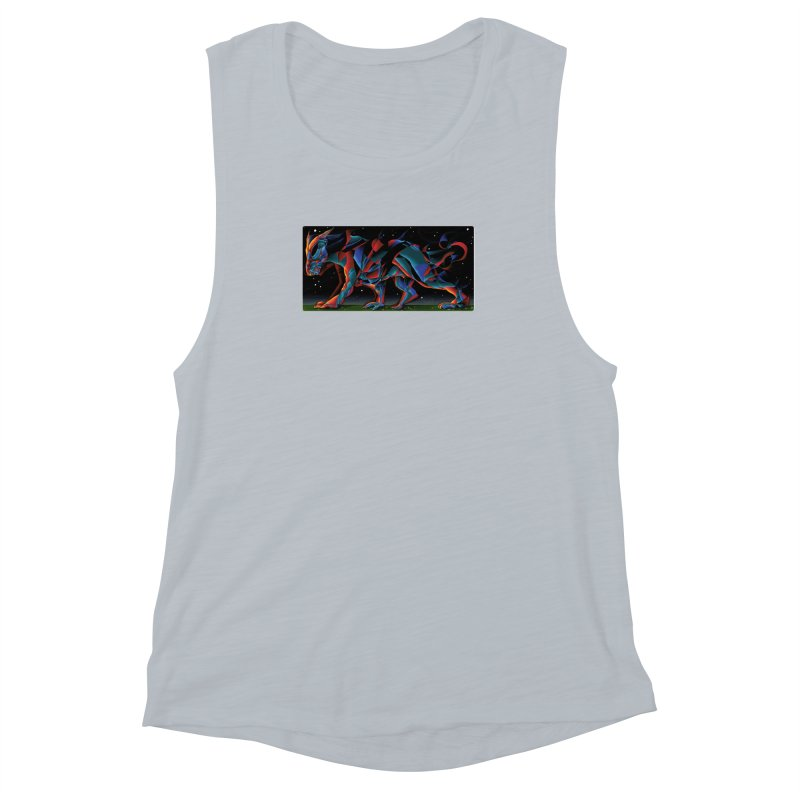 The Dragon Walks The Earth Women's Muscle Tank by Todd Powelson's Artist Shop