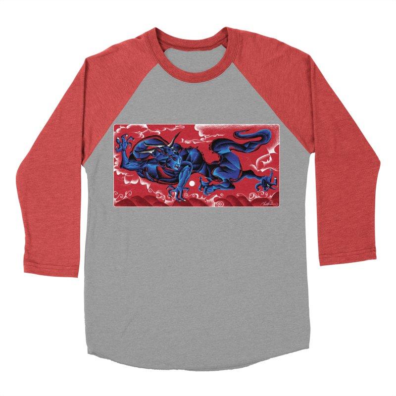 Dragon Women's Baseball Triblend T-Shirt by Todd Powelson's Artist Shop