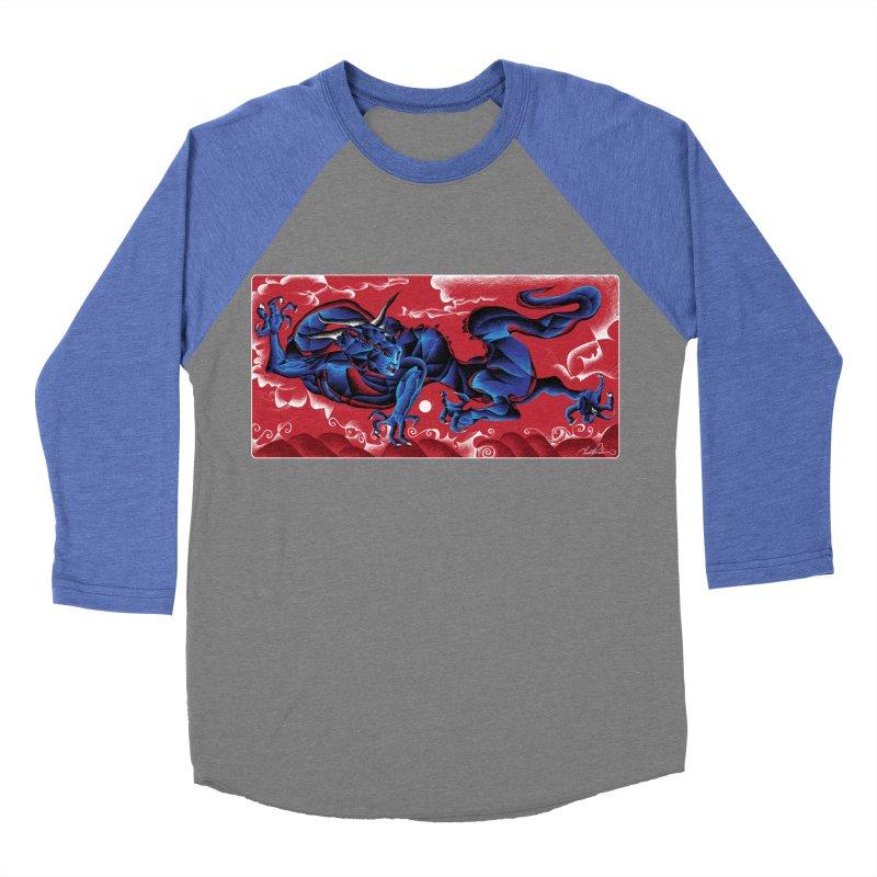 Dragon Men's Baseball Triblend T-Shirt by Todd Powelson's Artist Shop