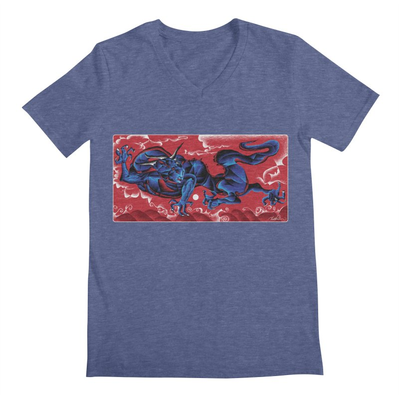 Dragon Men's V-Neck by Todd Powelson's Artist Shop