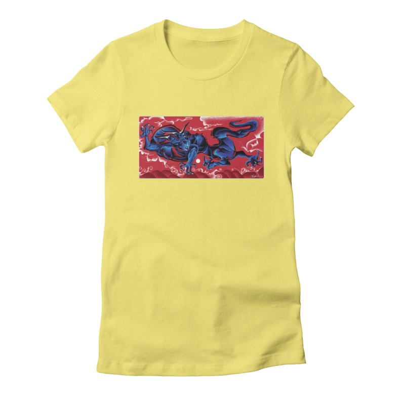 Dragon Women's Fitted T-Shirt by Todd Powelson's Artist Shop